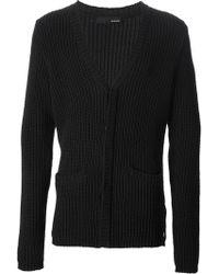 Avelon Ribbed Knit Cardigan - Lyst