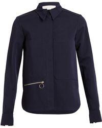 Stella McCartney Cotton-silk Jacket - Lyst