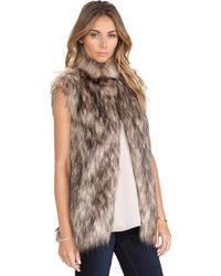 Lovers + Friends Camille Faux Fur Vest - Lyst