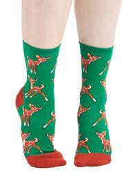 Socksmith Frolicking Fawns Socks - Lyst