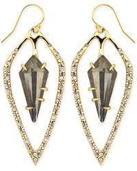 Alexis Bittar Miss Havisham Pyrite Doublet  Crystal Kite Earrings - Lyst
