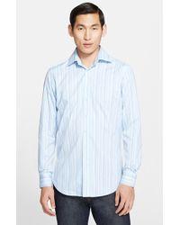 Etro 'Ippolito' Trim Fit Stripe Shirt - Lyst