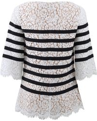 Michael Kors Striped Lace Top - Lyst