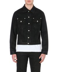 McQ by Alexander McQueen Silver Hardware Cotton Denim Jacket - Lyst