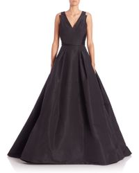 Carolina Herrera | Flared Silk Gown | Lyst