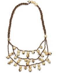Greenola Style - Ivory Acai Tiered Necklace - Lyst