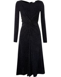 Armani Long Sleeve Sparkle Dress with Ruching - Lyst