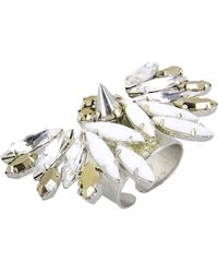 Crezus Silver Ring - Lyst