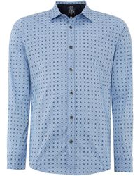 Diesel Long Sleeve Geo Print Shirt - Lyst