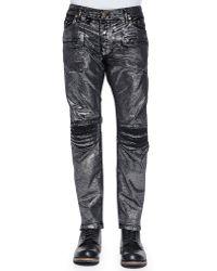 Robin's Jean Disco Moto Jeans - Lyst