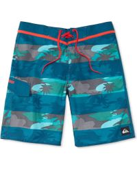 Quiksilver Briggcamo Printed Striped Boardshorts - Lyst