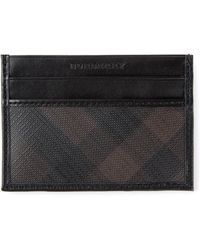 Burberry Checked Card Holder - Lyst