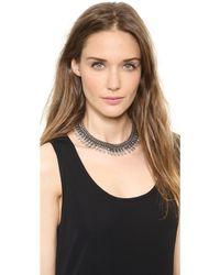Dannijo Whistler Necklace Silverblack Diamondcrystal - Lyst
