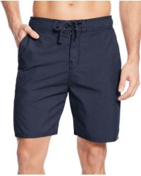 Weatherproof Washed Dye Solid 7 Eboard Swim Trunks - Lyst