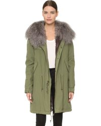 Mr & Mrs Italy - Army Parka With Fur Lining - Lyst