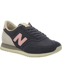 new balance 620 trainers navy blue pink exclusive