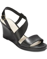 Cole Haan Wedge Sandals - Ravenna Asymmetrical - Lyst