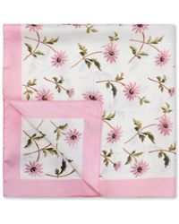 Red Valentino | Watercolor Daisies Silk Carré 67 X 67 Cm | Lyst