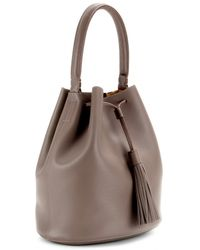 Anya Hindmarch Vaughan Leather Bucket Bag - Lyst