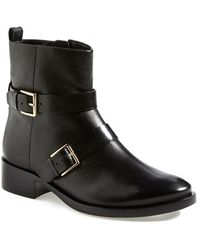 Tory Burch 'Riley' Leather Moto Boot - Lyst