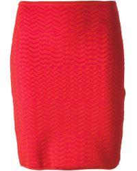 Alexander Wang Zig Zag Woven Skirt - Lyst
