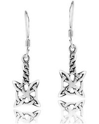 Aeravida - Timeless Celtic Knots Lace Sterling Silver Earrings - Lyst