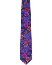 Duchamp Floral-Patterned Tie - For Men - Lyst