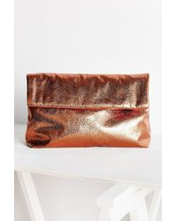 Silence + Noise - Oversized Paperbag Clutch Bag - Lyst