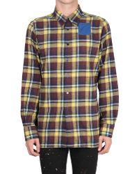 Raf Simons Slim-fit Tartan Cotton Shirt - Lyst