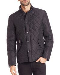 Barbour   Powell Quilted Coat   Lyst