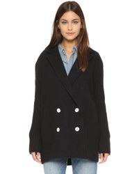 Madewell - Charlie Jumper Coat - True Black - Lyst