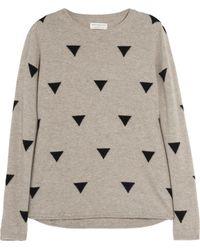 Chinti & Parker Triangle intarsia Cashmere Sweater - Lyst