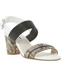 Dune Joro Block Heel Leather Sandals - Lyst