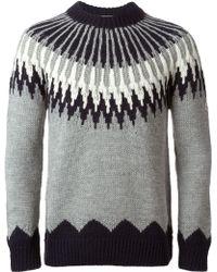 Moncler Crested Knit Jumper - Lyst