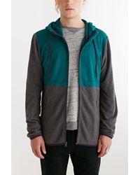BDG - Colorblocked Polar Fleece Zip-Up Hooded Sweatshirt - Lyst