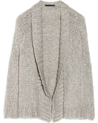 Alexander Wang Chunky Open-knit Cardigan - Lyst