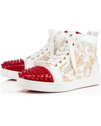 Christian Louboutin Lou Spikes Womens Flat - Lyst