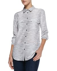 Equipment Slim Signature Printed Button-down Blouse - Lyst