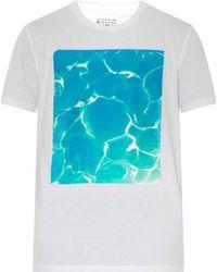 Maison Margiela Water-Print Cotton T-Shirt - Lyst