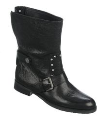 Franco Sarto Privy Leather Boots - Lyst