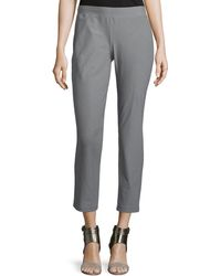 Eileen Fisher | Washable-crepe Straight-leg Pants | Lyst
