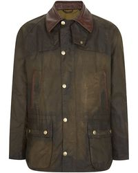 Barbour Polo Arkle Leather Collar Jacket - Lyst