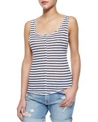Frame Denim Le Muscle Tank With Stripes - Lyst