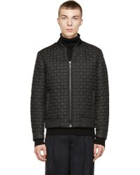 CALVIN KLEIN 205W39NYC - Black Quilted Bomber Jacket - Lyst