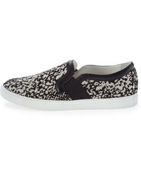 Lanvin Patterned Slipon Sneaker Black - Lyst