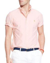 Ralph Lauren Short Sleeve Oxford Button Down Shirt - Classic Fit - Lyst