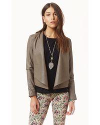 Bb Dakota Kilim Drapey Leather Jacket beige - Lyst
