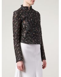 Victoria Beckham Floral Cropped Jacket - Lyst