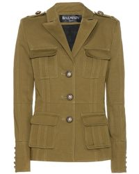 Balmain Cotton Jacket - Lyst