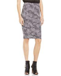 Vince Camuto Animal Print Pencil Skirt - Lyst